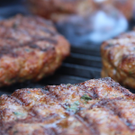 Lamb Burgers on a Cuisinart CGG-200 Portable Gas Grill